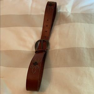 Fossil leather belt, size M, brown